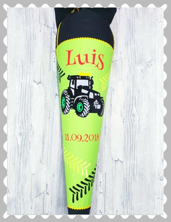 """Schultüte """"Traktor"""" in versch. Stoffen und Größen"""