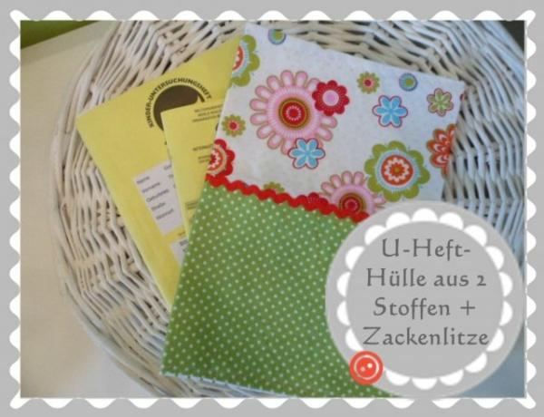 """U-Heft-Hülle Variante """"Duo + Verzierung"""" nach Wunsch"""