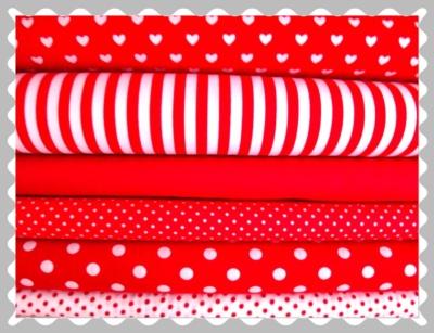 """Baumwolle """"Rot mit weißen Muster"""""""