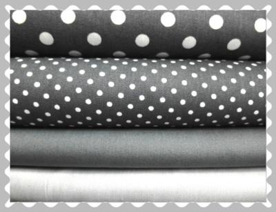 """Baumwolle """"Grau mit weißen Muster"""""""
