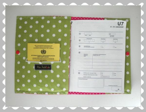 """U-Heft-Hülle """"Fuchs + Fliegenpilz"""" mit Wunschstoffen"""