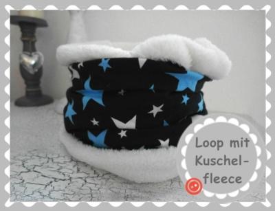 """Loopschal """"Marine mit Sternen"""" nach Wunsch"""