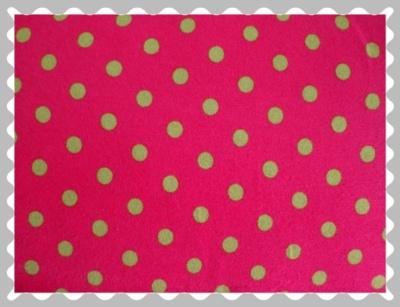 """Jersey """"Punkte in Grün auf Pink"""""""