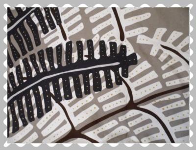 """Stoffwunsch """"Palmenblätter in Schwarz / Weiß auf Dunkelbeige"""""""