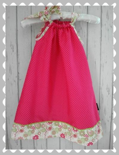 """Kleid / Hängerchen """"Pink Pünktchen/Blumen"""""""