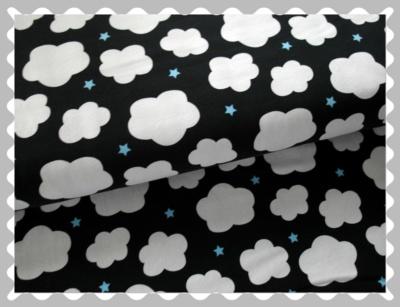 """Jersey """"Wolken auf Marine mit kleinen Sternen"""""""