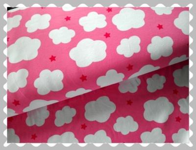 """Jersey """"Wolken auf Rosa mit kleinen Sternen"""""""