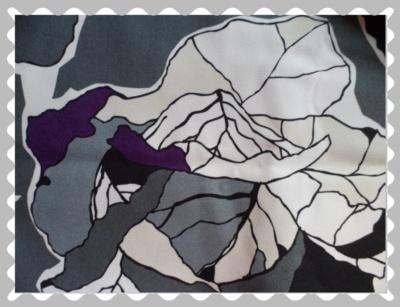 """Stoffwunsch """"Canvas in Grau, Weiß, Lila"""""""