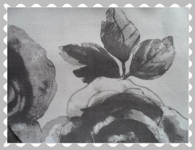 """Stoffwunsch """"Rosen auf Hellgrau-Canvas"""""""