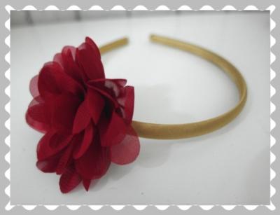 """Haarreifen """"Bordeaux/Gold"""""""