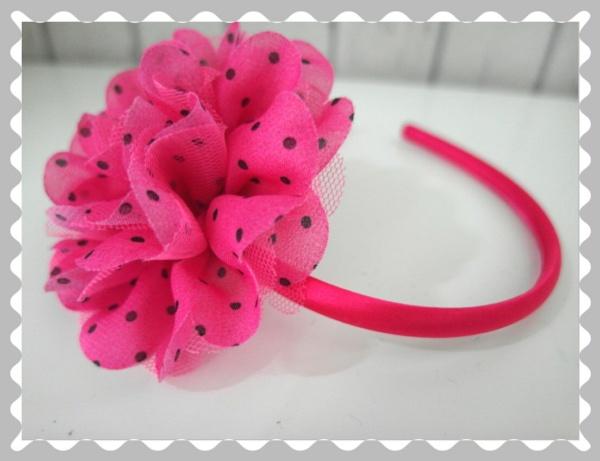 """Haarreifen """"Pink Pünktchen"""""""