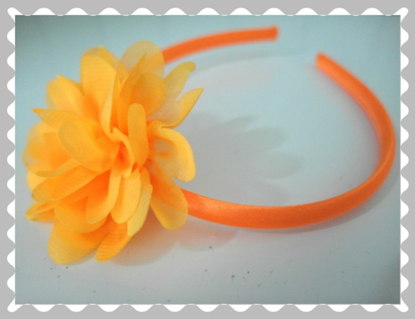 "Haarreifen ""Sonnengelb/Orange"""