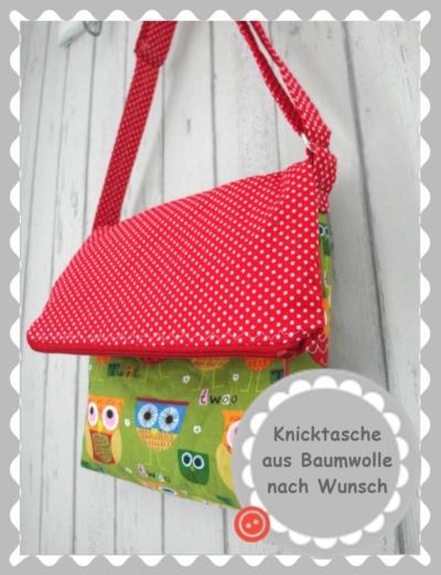 """Knicktasche """"Baumwolle"""" nach Wunsch"""