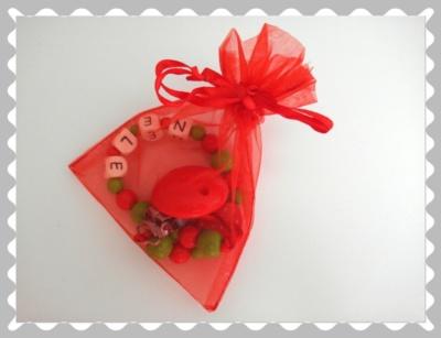 """Schnullerkette """"Erdbeere in Rot"""""""