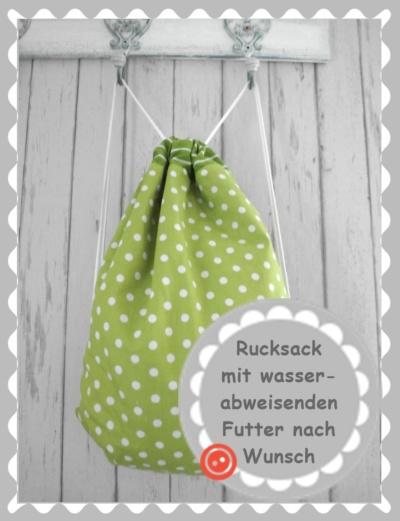 """Kordelrucksack """"nach Wunsch"""""""