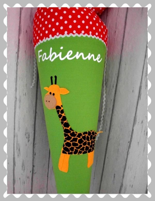 """Schultüte """"Giraffe"""" in versch. Stoffen und Größen"""