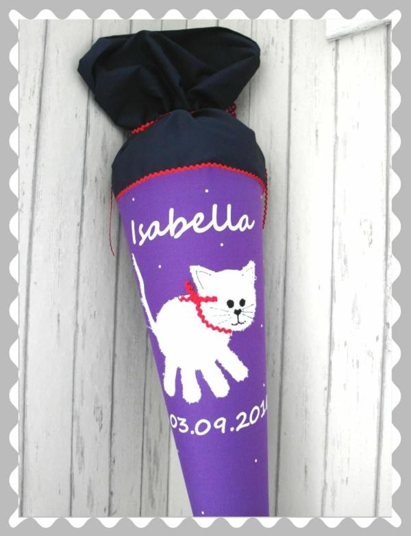 """Schultüte """"Katze aus Frottee"""" in versch. Stoffen und Größen"""