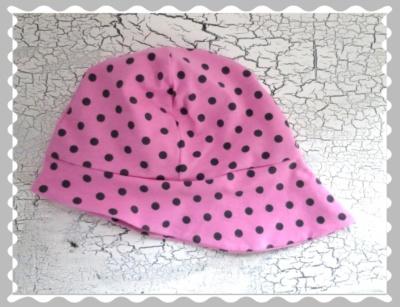 """Sommerhut """"Rosa mit grauen Punkten"""" in Wunschgrößen"""