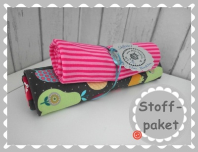 "Stoffpaket ""Äpfel/Birnen Jersey + Bündchen"""