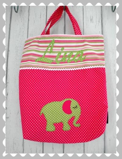 """Tasche """"Elefant"""" mit Wunschstoff"""