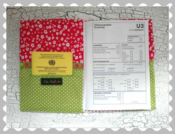 """U-Heft-Hülle """"Schäfchen"""" mit Wunschstoffen"""