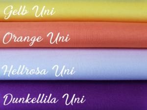 Gelb/Orange/Flieder/Dunkellila Uni