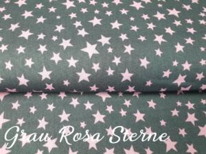 Grau mit rosa Sterne
